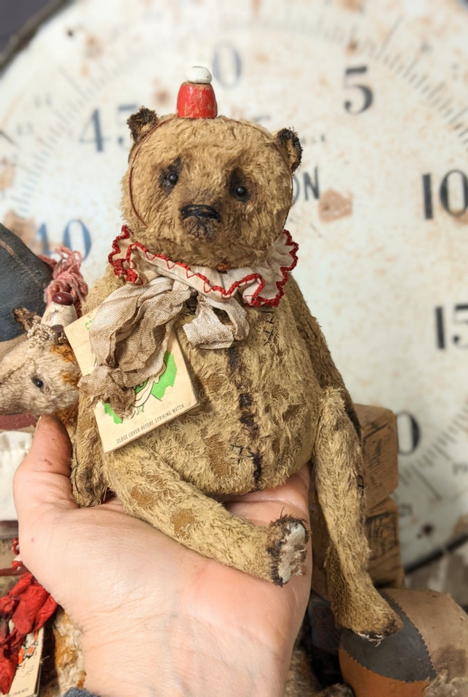 """Image of New Design - 7.5"""" Circus Day Old carnival Teddy Bear by Whendi's Bears"""