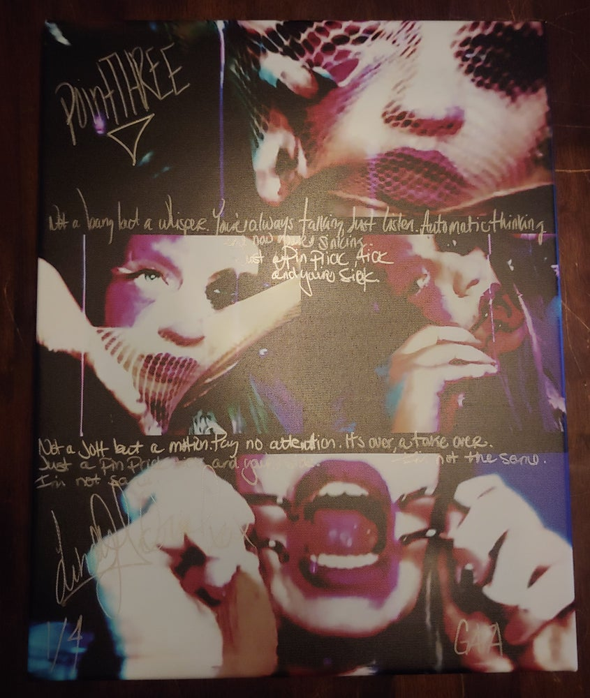Image of 16x20 Canvas with Handwritten pointTHREE lyrics. Comes signed and numbered. ONLY 4 AVAILABLE.