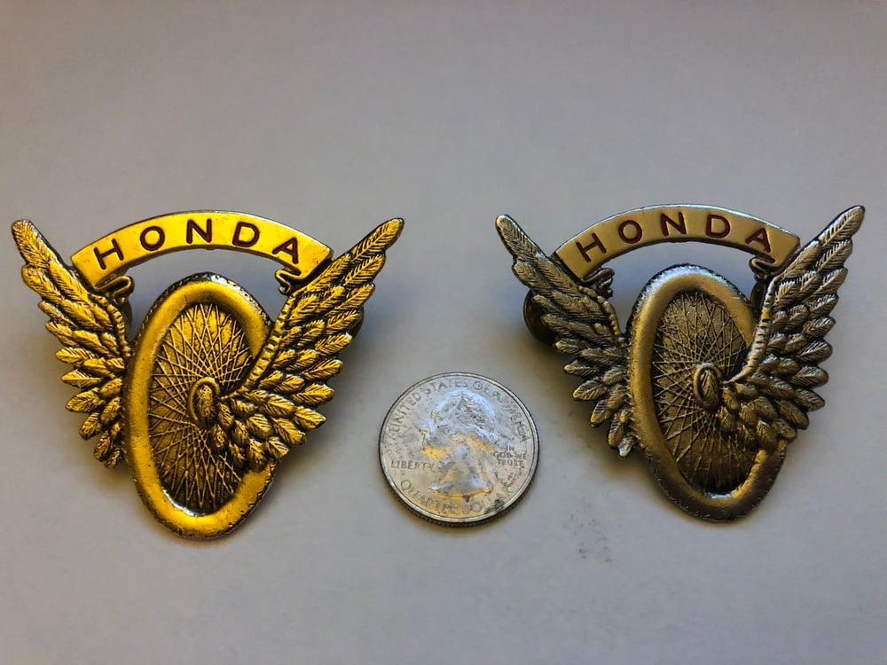 "Image of Vintage Honda ""flying wheel� Enamel Pin"
