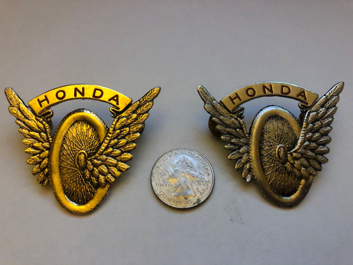 "Image of Vintage Honda ""flying wheel"" Enamel Pin"