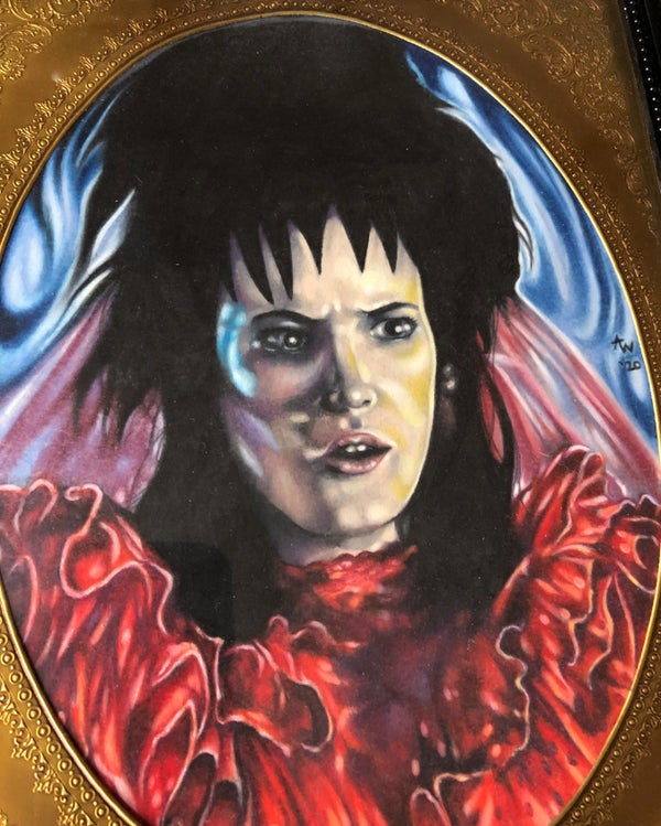 "Image of ""Lydia Deetz II"" Original Colored Pencil Illustration"