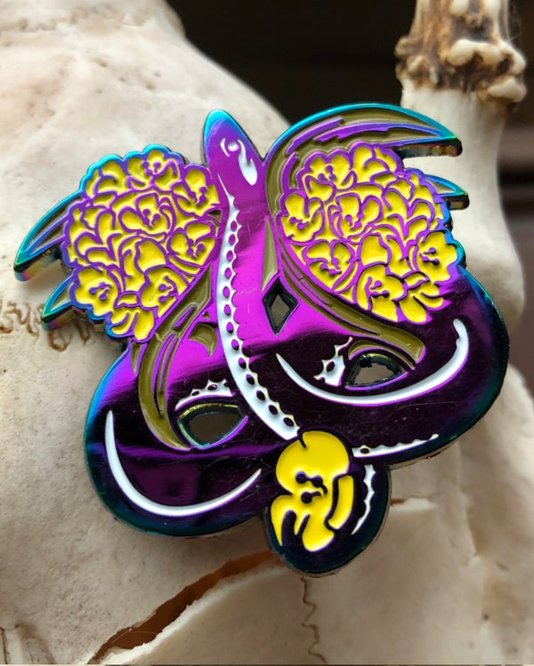 Image of Sunbeam Snake Enamel Pin
