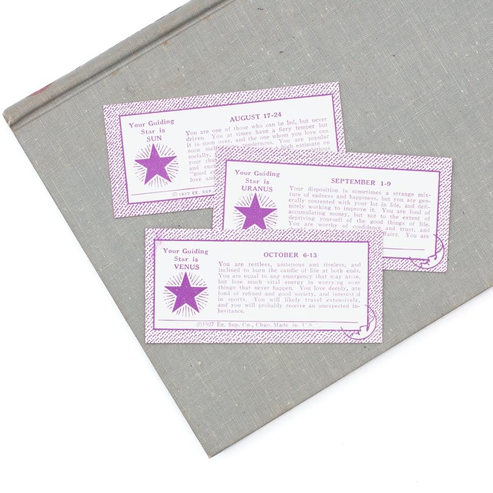 Image of Purple Horoscope Vending Cards - Set of 6