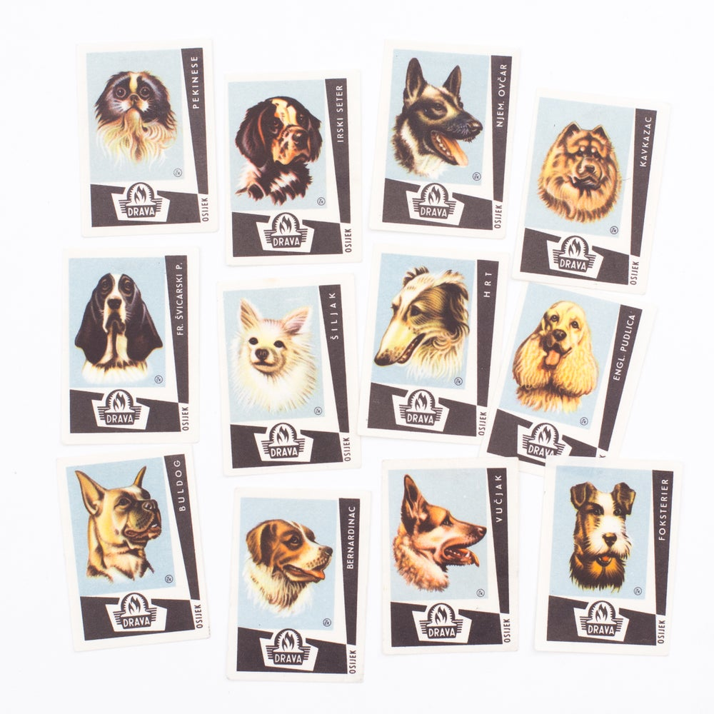 Image of Blue Dog Matchbox Labels