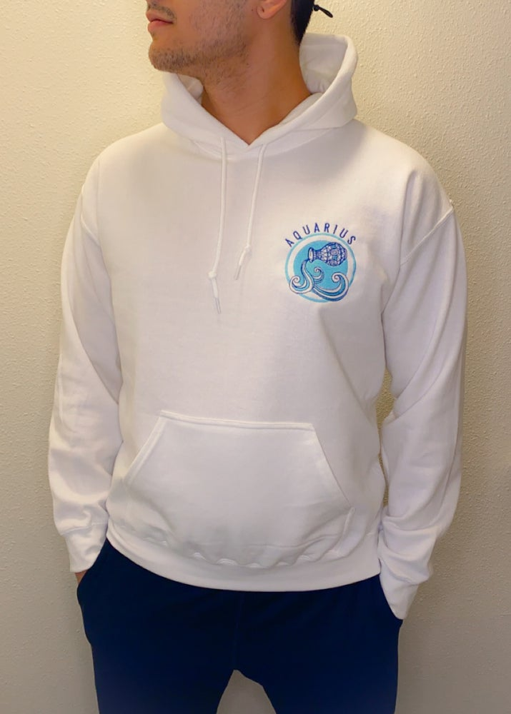 Image of custom zodiac hoodies *read description for instructions*