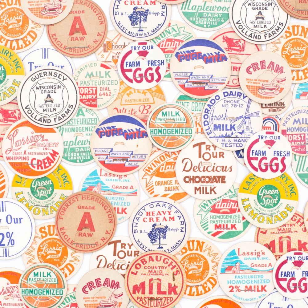 Image of Milk & Juice Caps - Set of 15 / 30 / 50