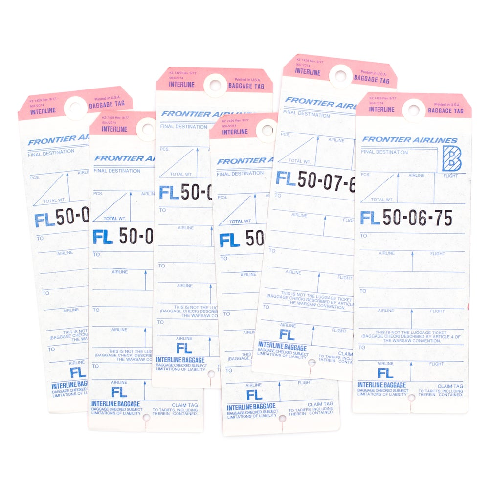 Image of Pink & Blue Baggage Tags - Set of 4
