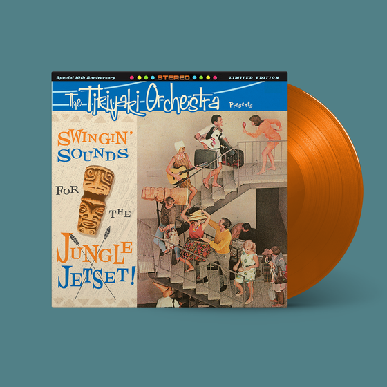 "Image of OFFICIAL - TIKIYAKI ORCHESTRA - MAI TAI ORANGE VINYL  ""SWINGING' SOUNDS FOR THE JUNGLE JETSET"" LP"