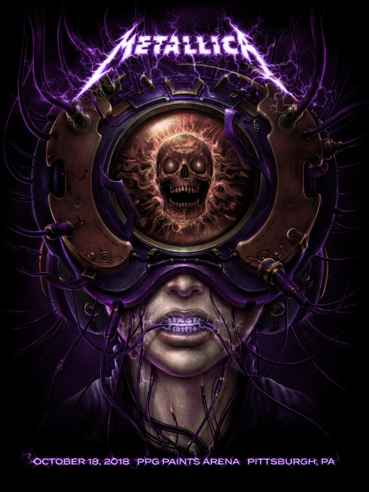 """Image of Metallica October 18, 2018 """"Hard Wired to Self Destruct"""" gig poster"""