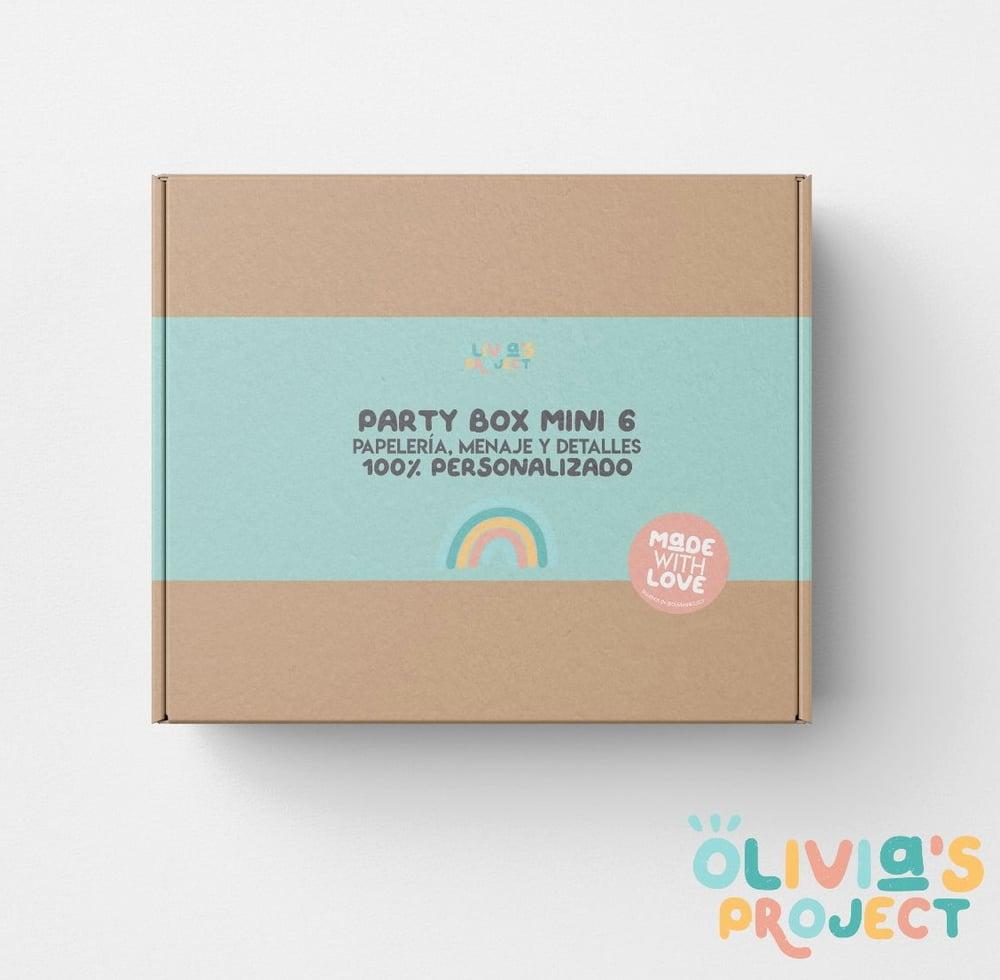 Image of Party Box Mini 6 100% personalizada (diseño nuevo)