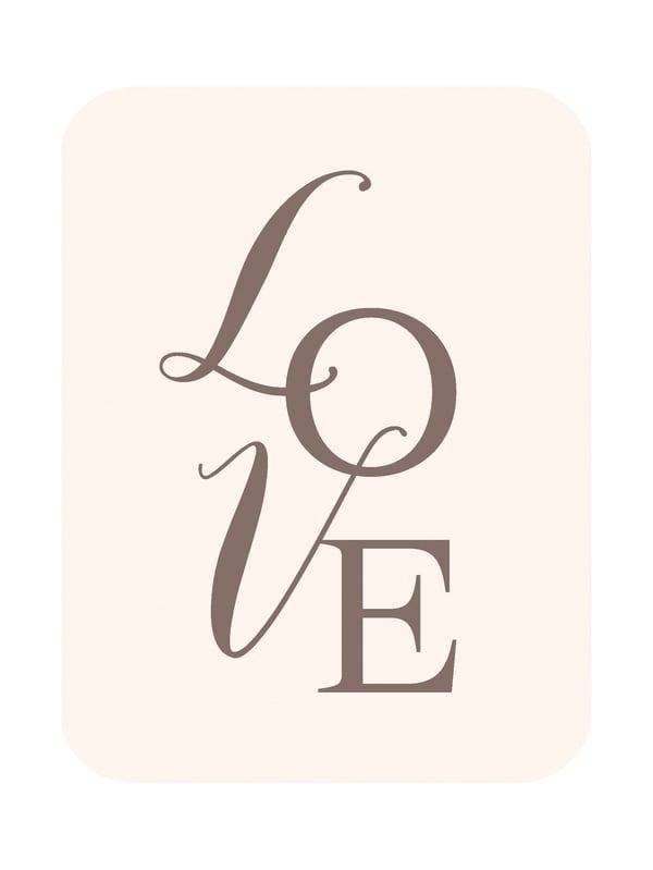 """Image of Carte postale """"LOVE"""" nude"""