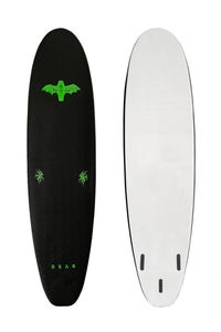 Image of COFFIN 7'0 THRUSTER <br> BLACK / WHITE - LIME LOGOS