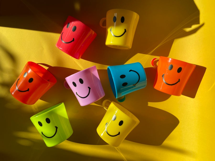 Image of Smiley Plastic Cups