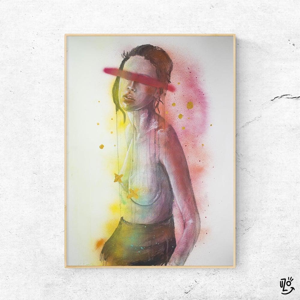 """Image of """"Bougainvillea"""" - ORIGINAL Mixed Media 100 x 70 cm"""