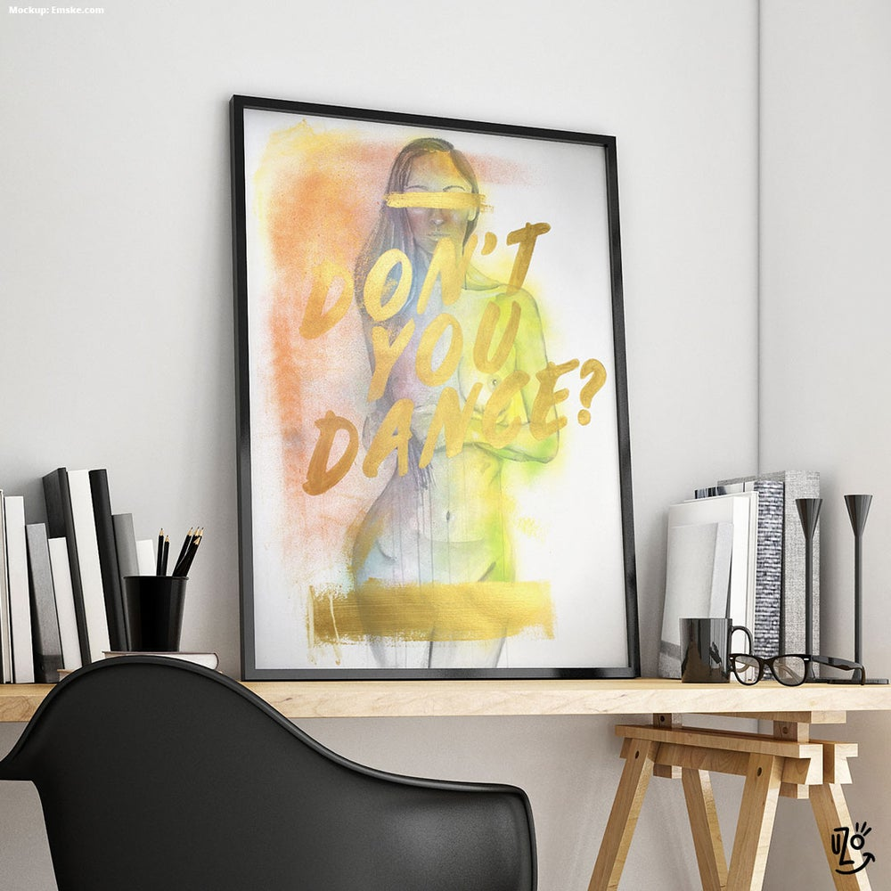 "Image of ""Don't you dance?"" -  ORIGINAL Mixed Media 100 x 70 cm"