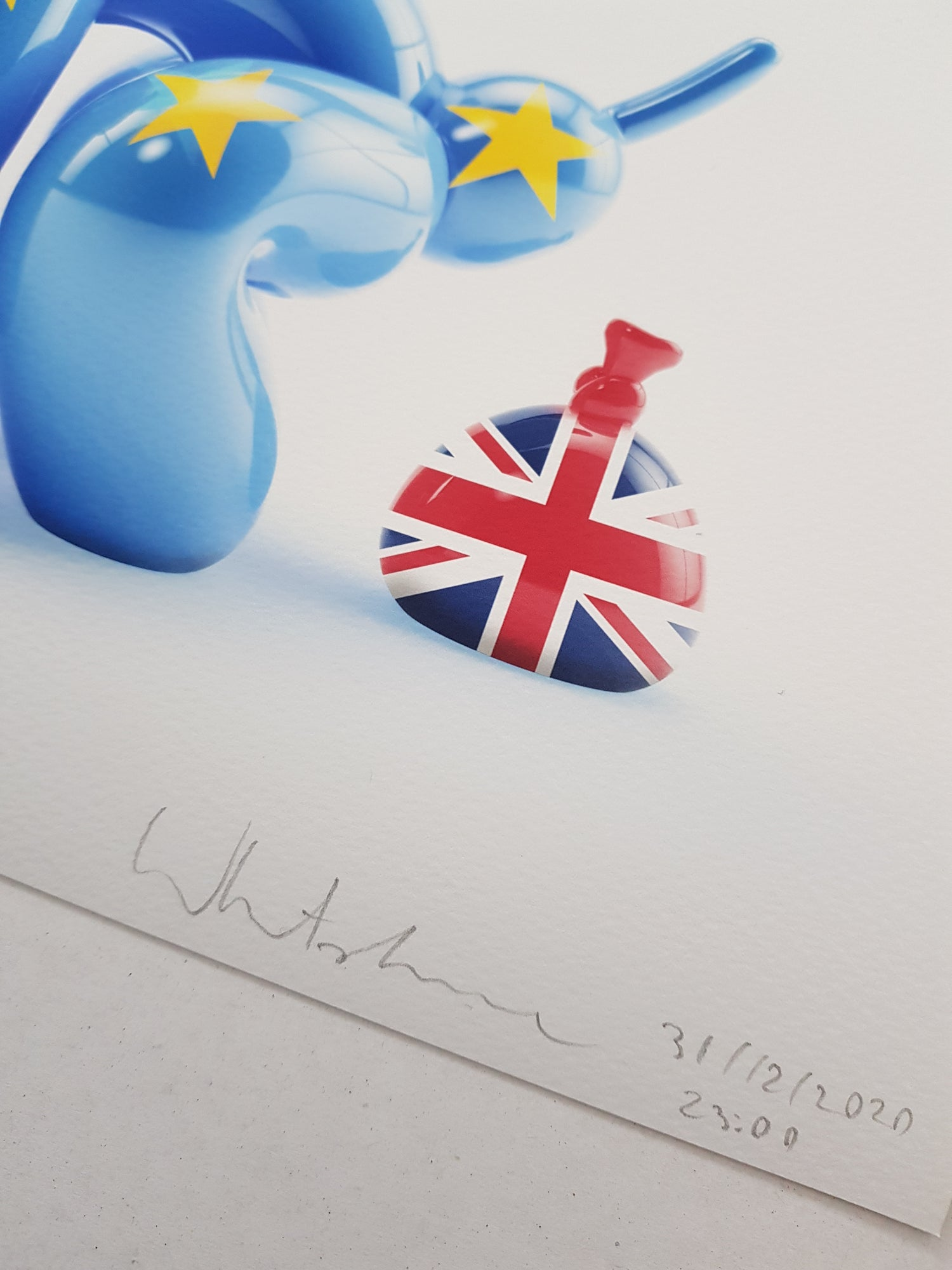 Image of BREXIT POPEK - SET OF 2 - LIMITED EDITION PRINT 78 - 35CM X 35CM
