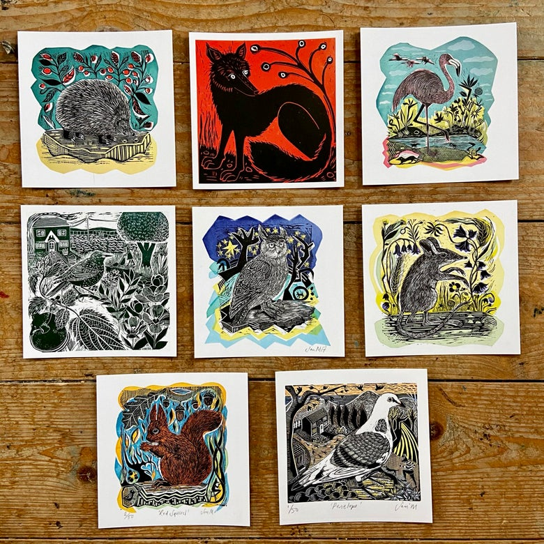 Image of OFFER - Set of all 8 Square Postcards