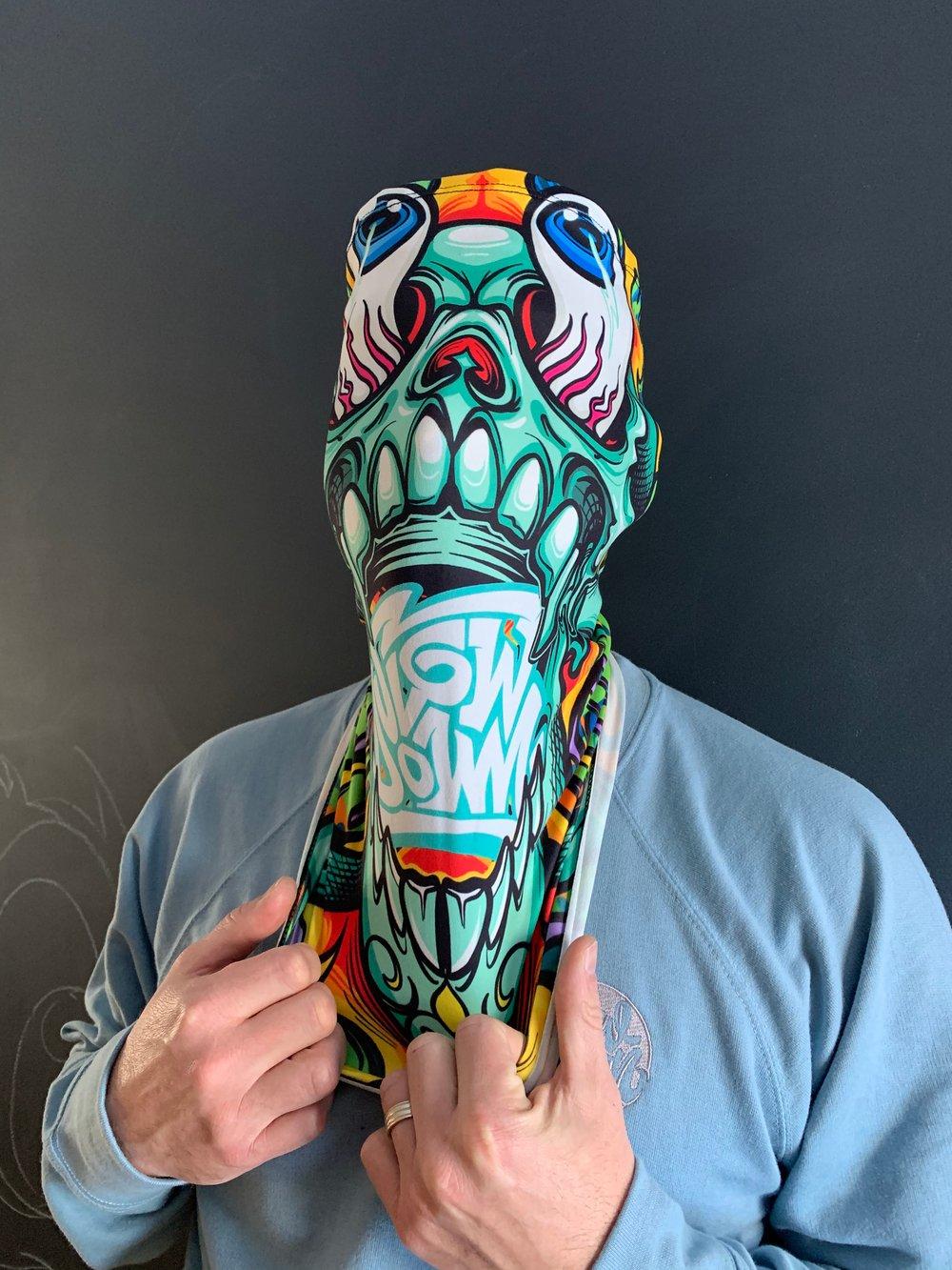 Crazy skull neck gaiter