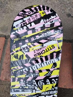 Pink, Neon, & Black skate deck collage