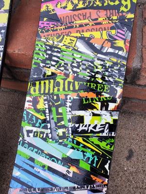 Rainbow skate deck collage