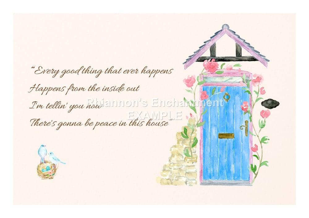 Lyrics by the doorway - Prints