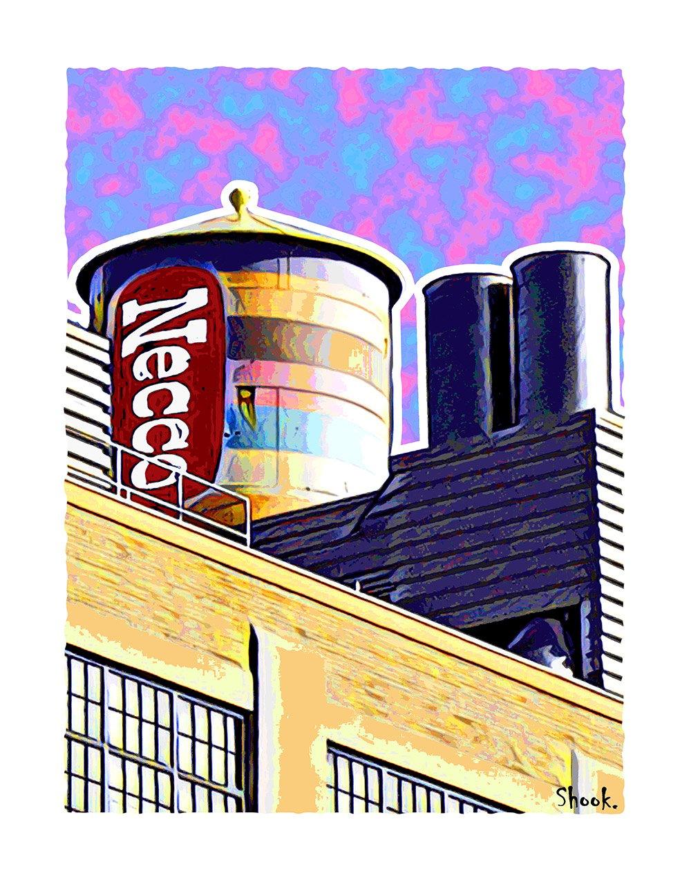 """Necco Factory Giclée Art Print - 11"""" x 14"""""""