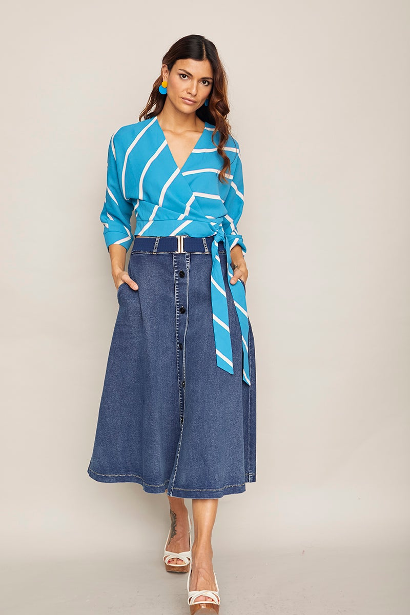 Image of Camisa Ciruela Azul