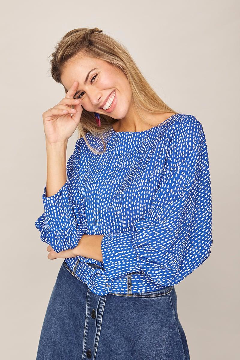 Image of Camisa Naranja Azulón
