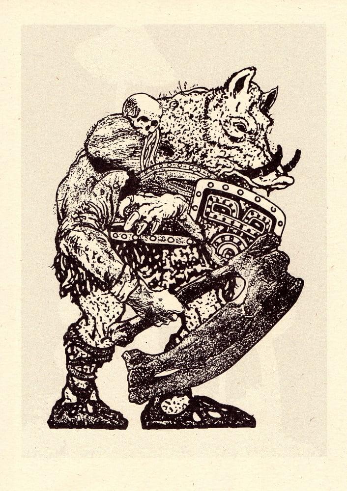 Image of WarHog — Risograph Print (Cairn)
