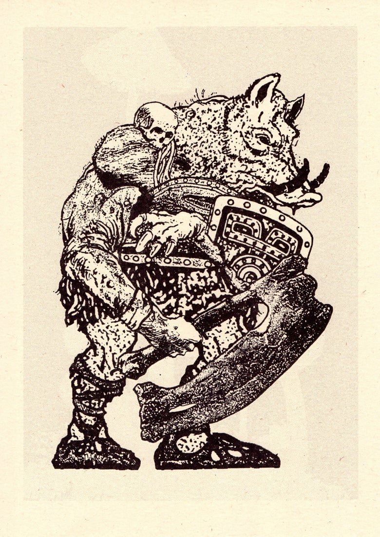 Image of WarHog — Risograph Print (Cairn)