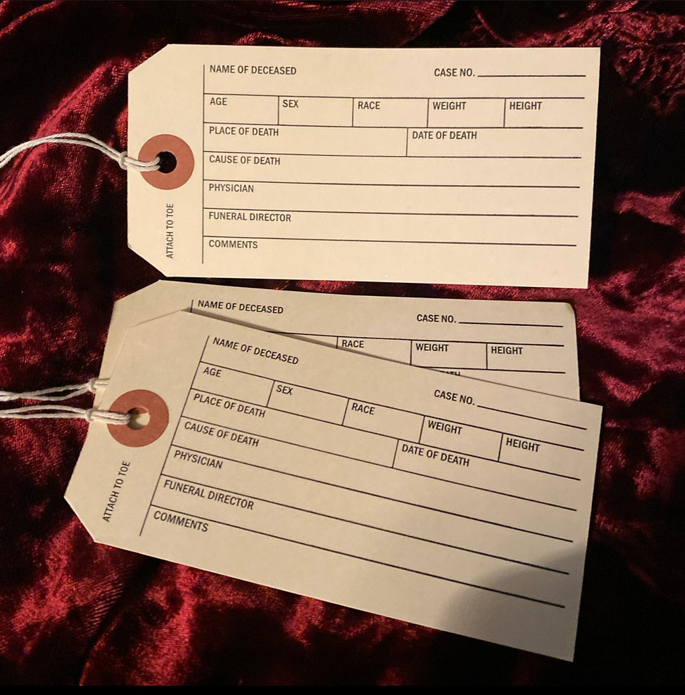 Image of 3 Toe Tags
