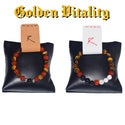 "RZN by RB "" Golden Vitality "" healing bracelt set"