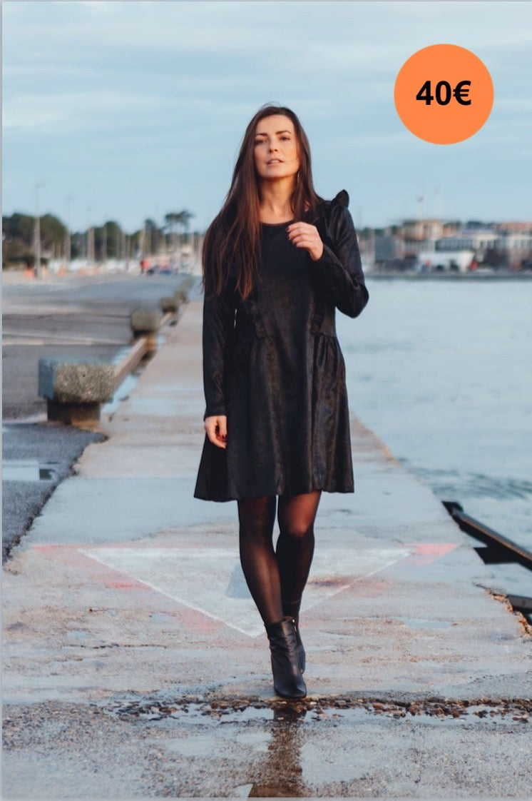 Image of ROBE SYLVIA - NOIR