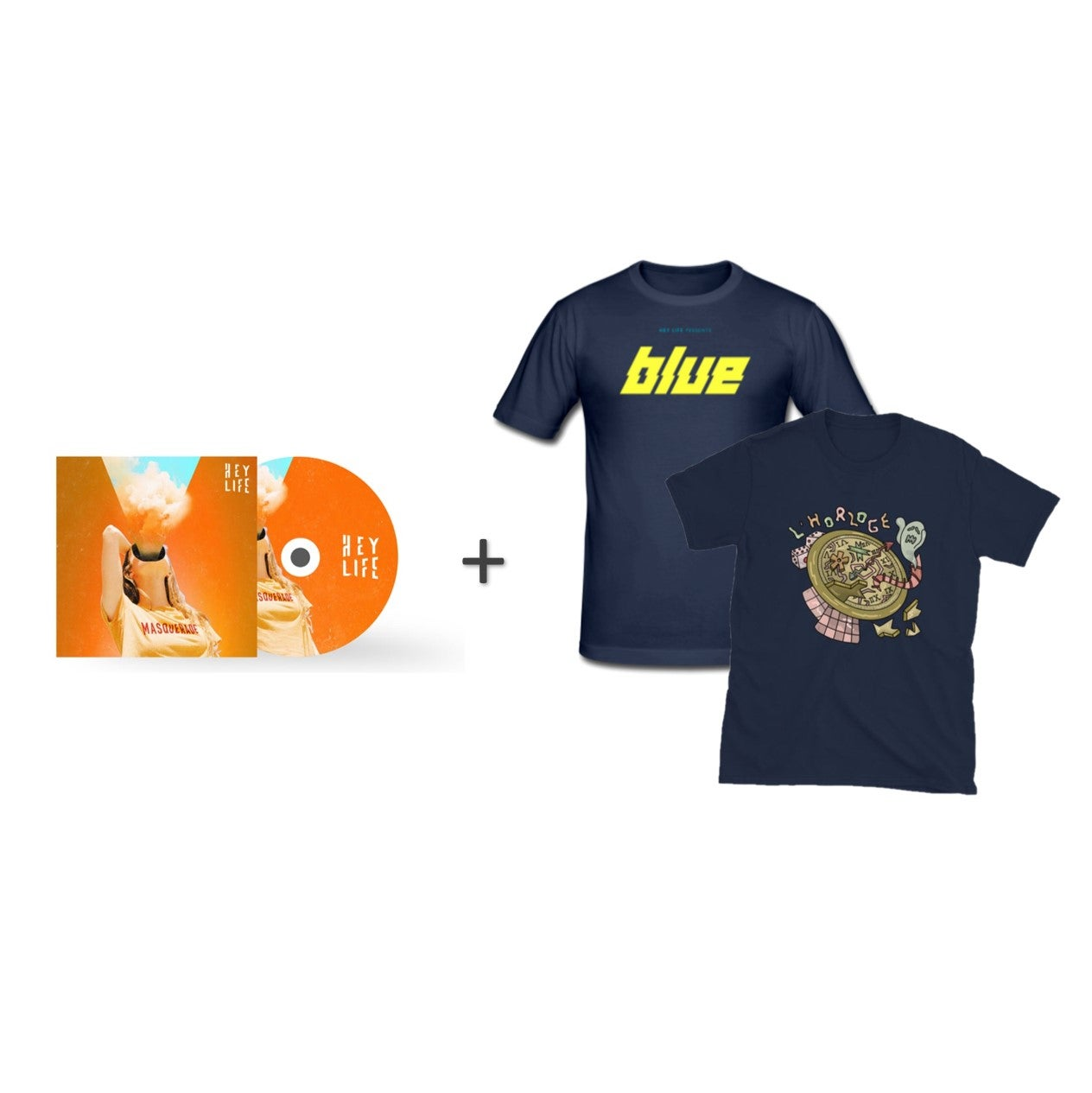 BUNDLE 'Blue/L'Horloge' - SIGNED EP + 2 T-SHIRTS