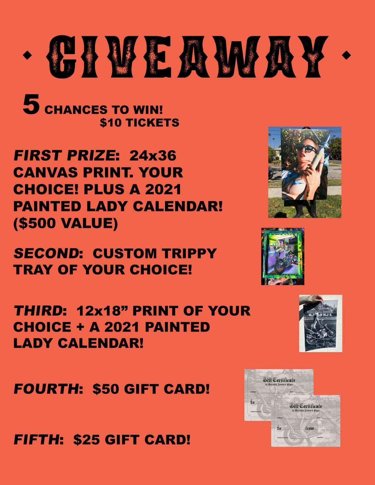 Image of FEBRUARY $10 GIVEAWAY <3 TICKET! 5 CHANCES TO WIN!