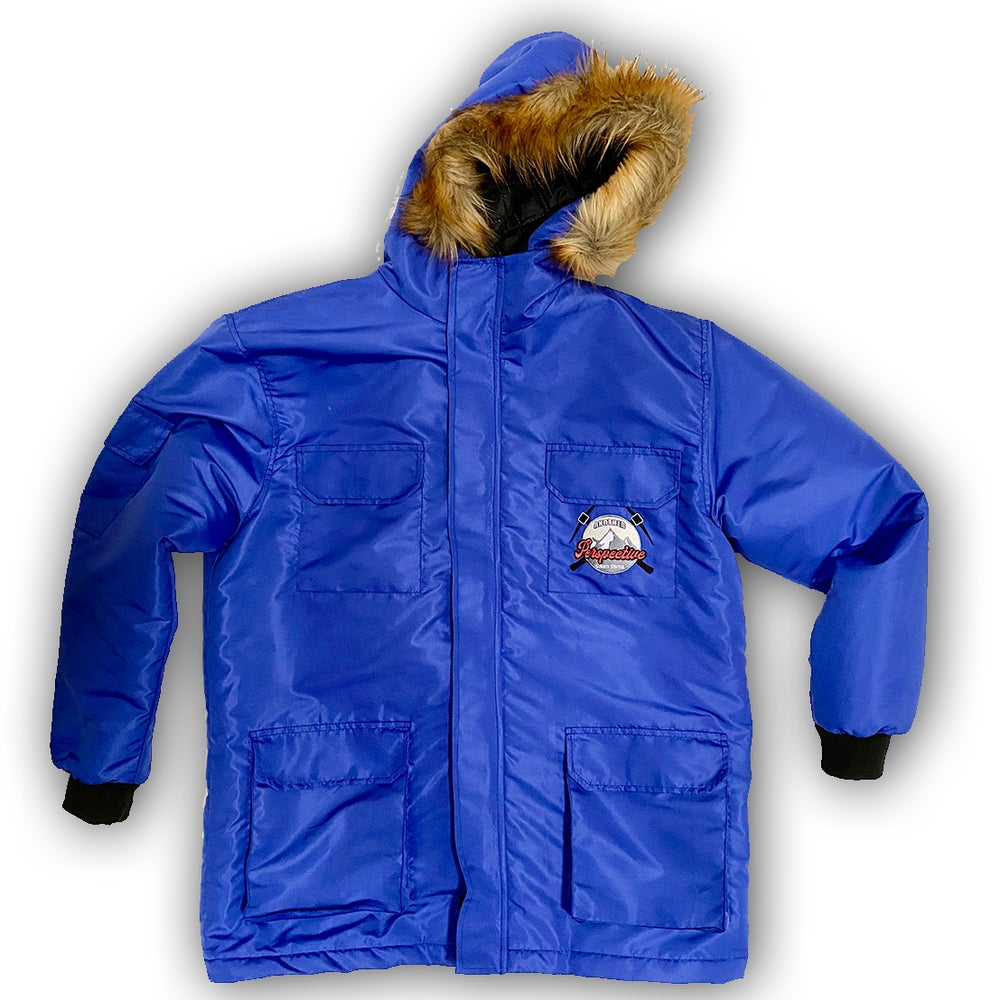 Image of Blue Lightweight Parka Jacket