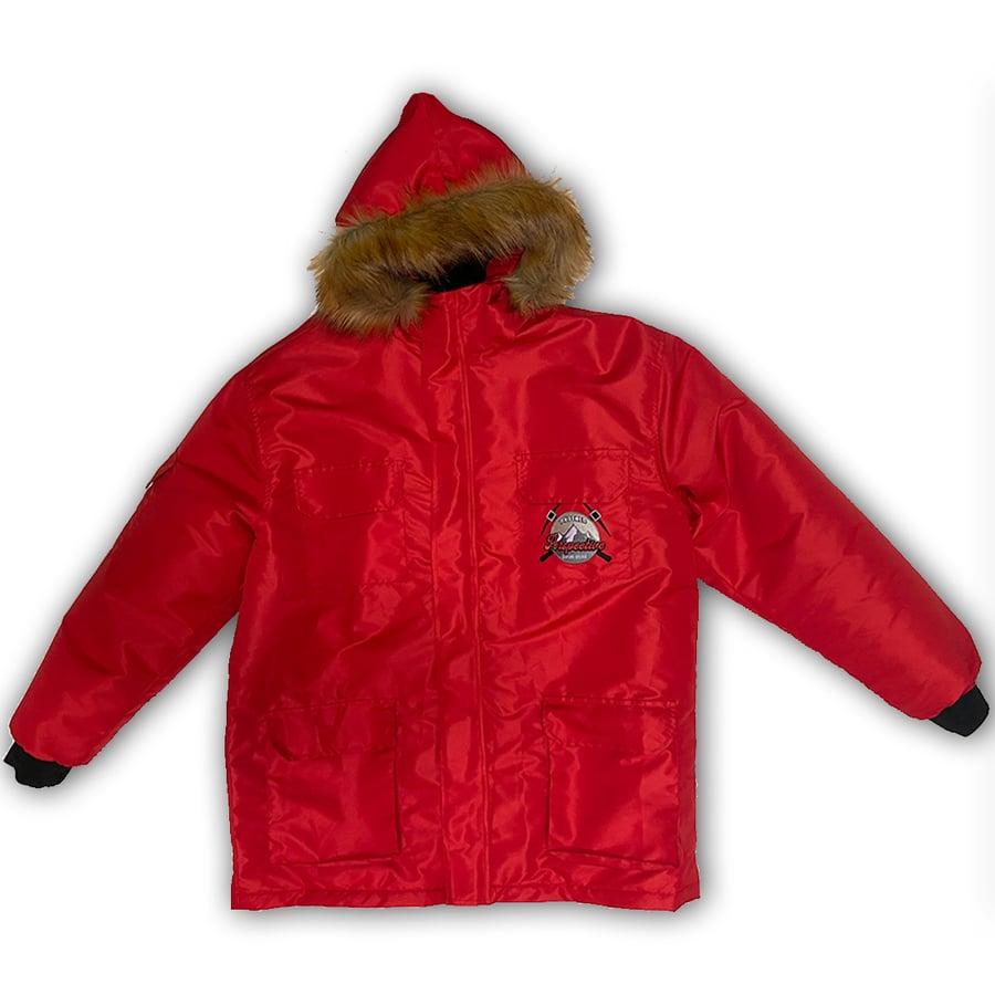 Image of Red Lightweight Parka Jacket