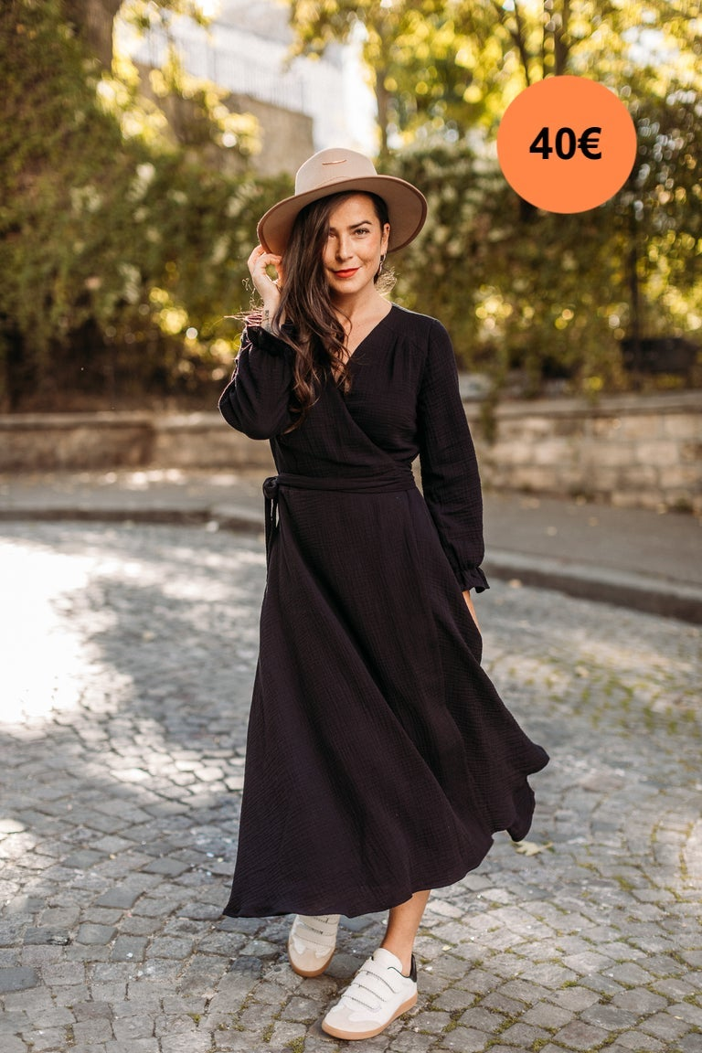 Image of ROBE LONGUE MARY - NOIR