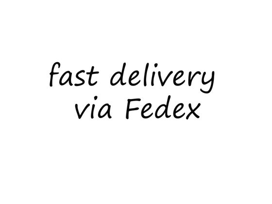 Image of FAST DELIVERY VIA FEDEX
