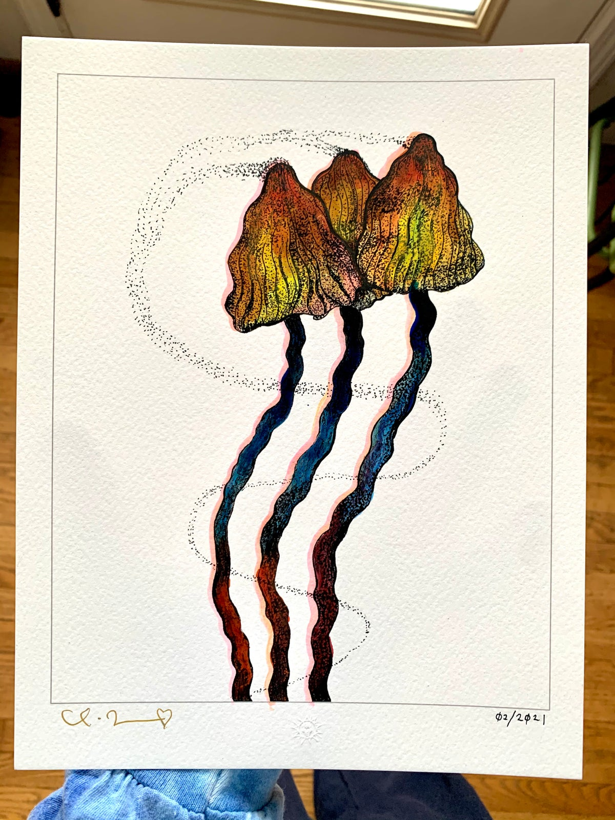 Image of 'Little Portals' with Hand Painted Watercolor Additions 1/1