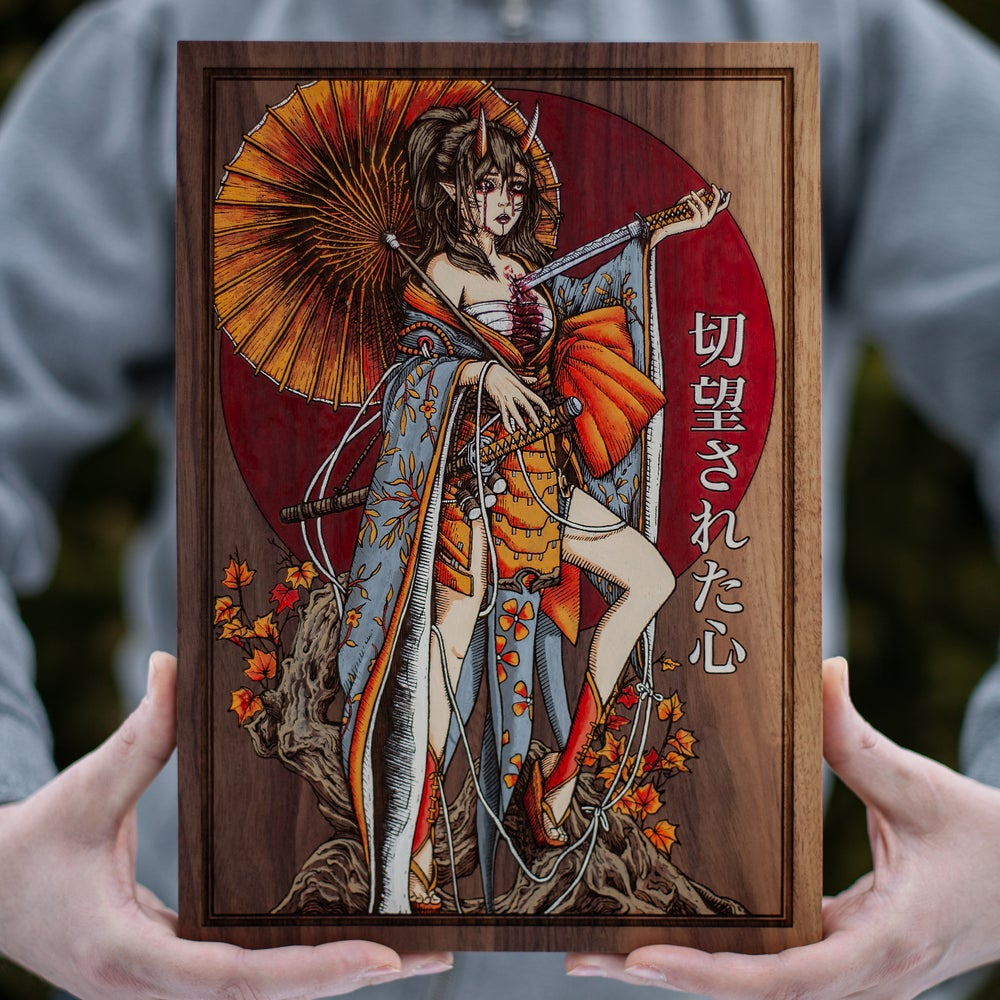 """Image of """"The Coveted Heart"""" Engraved Painting - Edition of 20"""