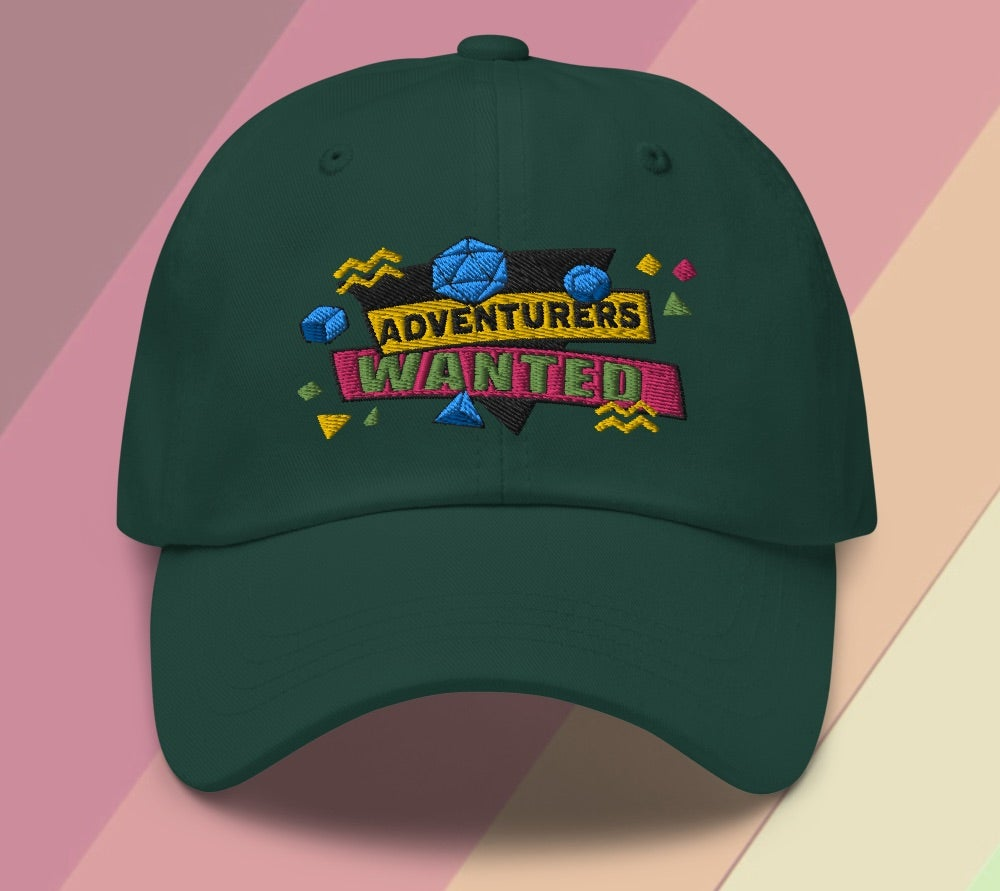 Image of ADVENTURERS WANTED! 90s DnD HAT