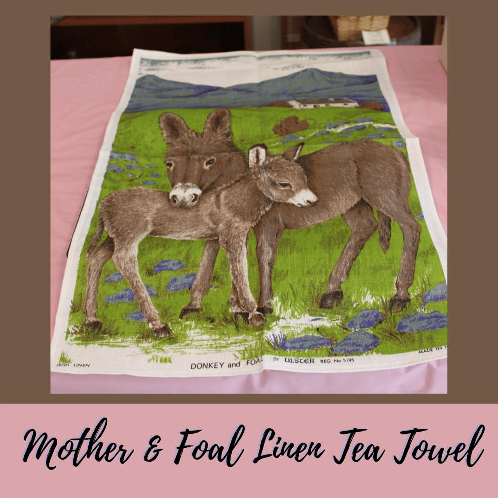 Image of Mother & Foal  - Linen Tea Towel