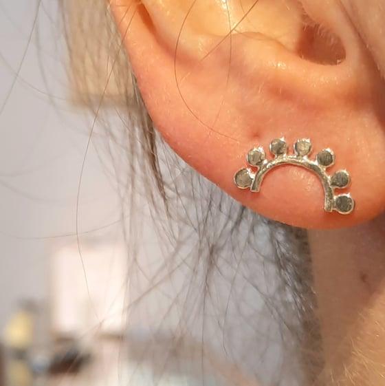 Image of Sterling Silver 7 rays Stud Earrings