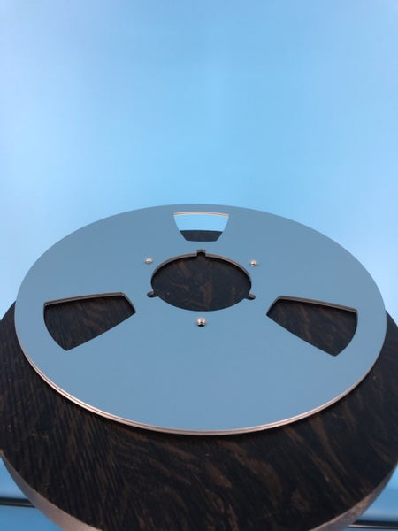 "Image of Burlington Recording 10.5"" SILVER Aluminum NAB Metal Flanges with 1/2"" Hardware"