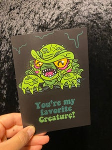 Image of Creature Valloween Card