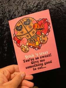 Image of Sam Valentine Valloween Card