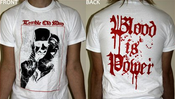 "Image of White ""Blood Is Power"" Shirts"