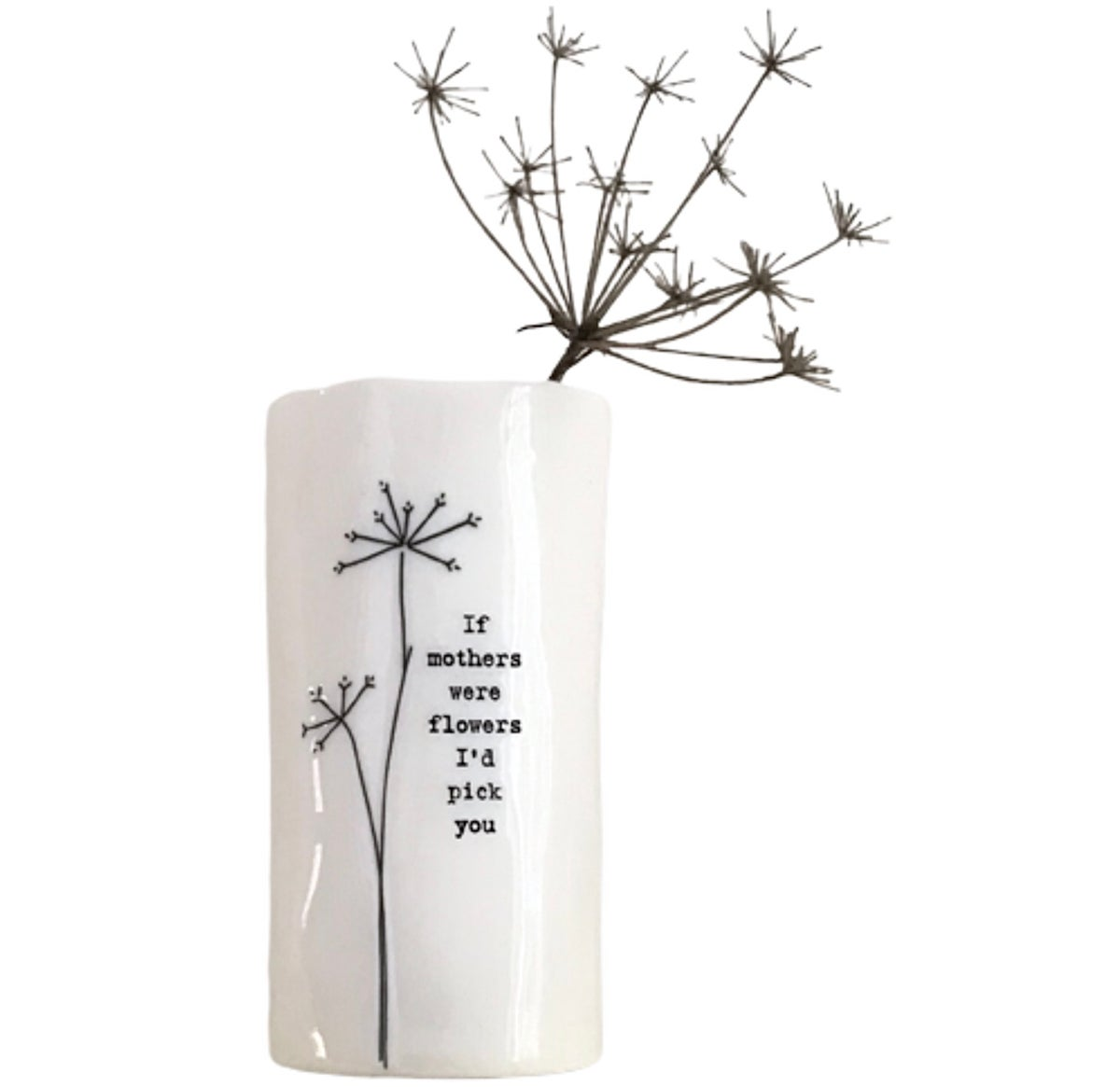 Image of East of India Porcelain Vase If Mothers Were Flowers