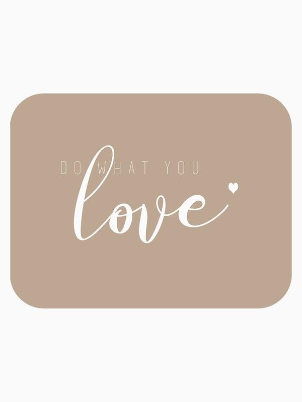 "Image of Carte postale ""DO WHAT YOU LOVE""  hazelnut"